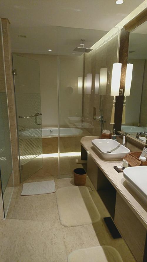 バスルームはバスタブの横に洗い場があり使い易いです。