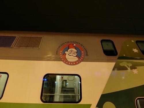 サンタクロースのロゴ。
