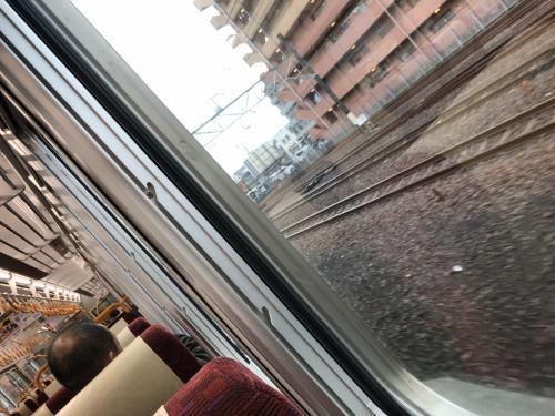 岩国駅からは広島行きの快速列車に乗りました。