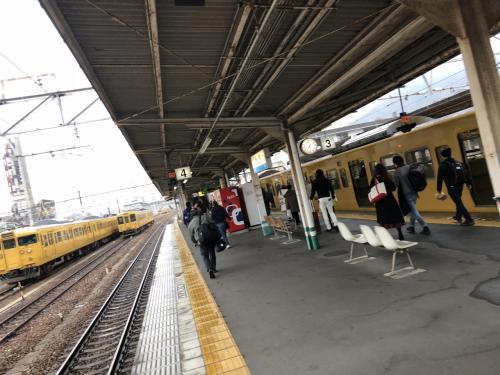糸崎駅につきました。今回立ち寄る尾道まで1駅です。
