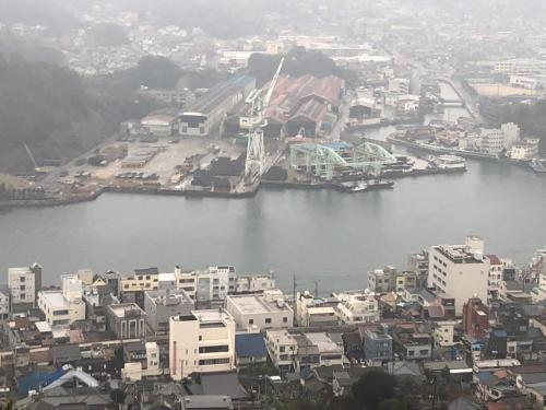 千光寺公園展望台が殻の眺め