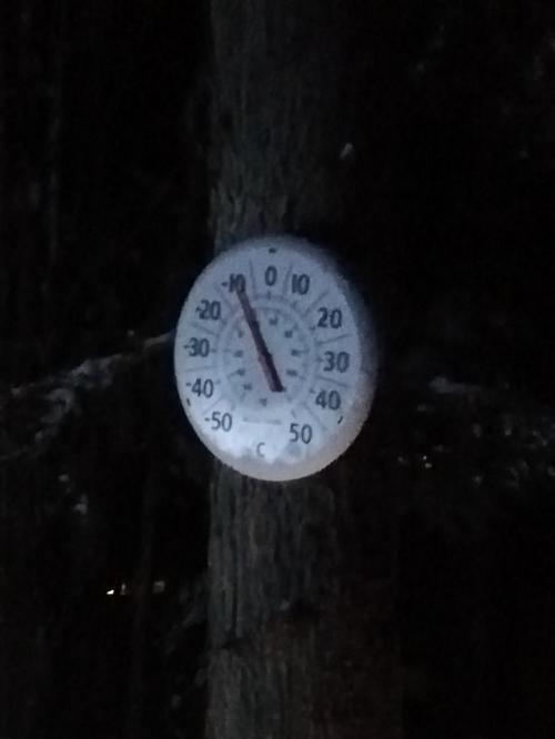 マイナス10度で暖かい方です
