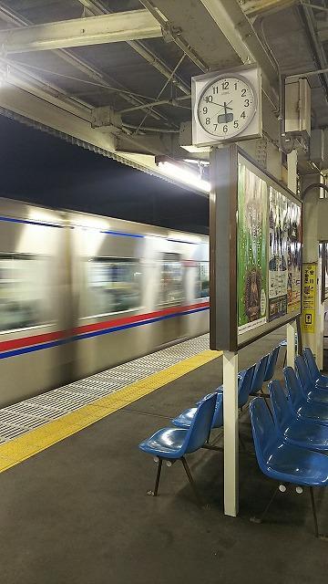早朝 京成線