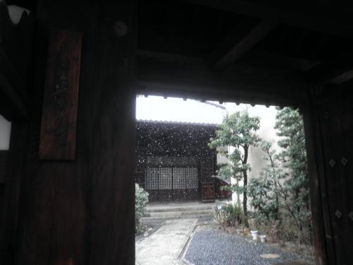 今日の雪で本当に綺麗な景色になりました。侘び寂びですね。