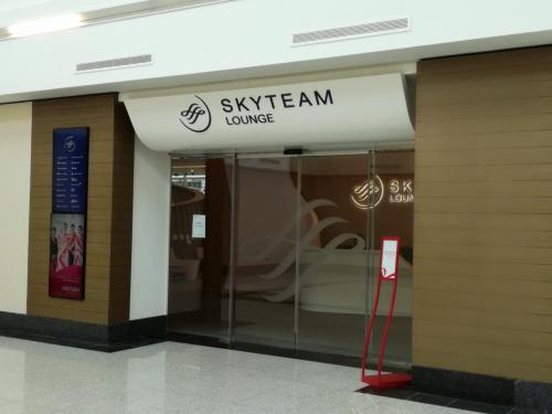 ドバイ国際空港ターミナル1<br />向かいにスカイチームラウンジがありました。<br />