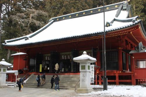 輪王寺を出たところにある二荒山神社。<br />2社1寺の中でここだけは無料なので、ちょっと寄り道