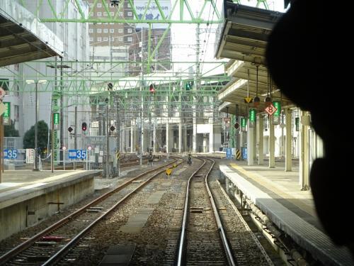 仙台駅を出発。