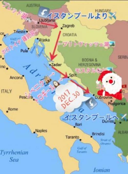 【12月27日(水)~30日(土)】<br />いよいよ、最終目的地『ドブロヴニク』まで辿り着きました!<br />とうとう、サンタも1番下まで進みましたね(^_-)<br />※実際は『ドゥブロヴニク』に近い発音です。<br /><br />そして、この旅行記も遂にラストを迎えました!<br />今回は『最終回拡大スペシャル☆』なので、写真が多めですが、素敵な街なので、是非ゆっくりご覧下さい(*^o^*)<br /><br />◆◇12月30日(土)のスケジュール◇◆<br />『日の出をみる』<br />             ↓<br />『ロープウェイでスルジ山へ登る』<br />             ↓<br />『旧市街の城壁内を散策』<br />             ↓<br />『ロヴリイェナツ要塞に登る』<br />             ↓<br />『バニェ・ビーチからサンセットを見る』<br />             ↓<br />『ドブロヴニク空港へ』<br /><br />サンライズからサンセットまで、終日ドブロヴニクを満喫し、19時15分の飛行機で帰国します(;_;)
