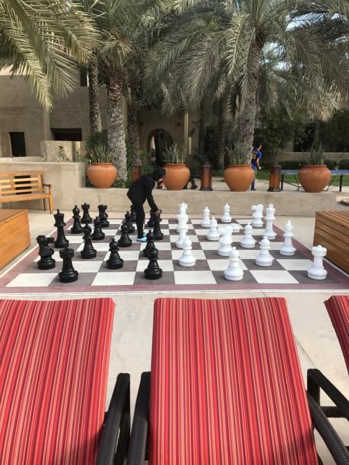 巨大なチェスが!<br />人が駒でも大丈夫なくらい(笑)<br />