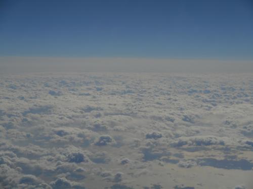 モコモコの雲海眺めながらご帰宅です(T▽T)