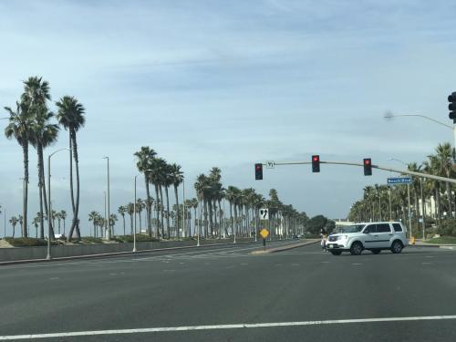 ロサンゼルス南部50㎞くらいには、たくさんのビーチがあります。<br />パームツリーが一気に多くなり、カリフォルニア感が!<br /><br />途中からまたフリーウェイへ。<br />ナビは、とにかくフリーウェイに乗せようとします。<br /><br />交通量はどんどんすごくなり、おそろしかったです。<br /><br />なんとかさくらレンタカーさんのオフィスに13時に到着。<br />到着前に近くのスタンドで給油<br />満タン返しです。