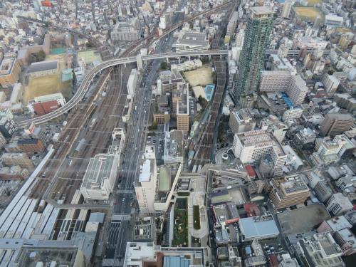 これはJR天王寺駅と近鉄阿部野橋駅で東の方角