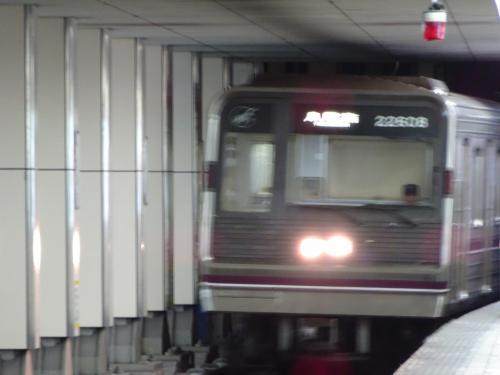 東梅田から地下鉄谷町線に乗り換えます。