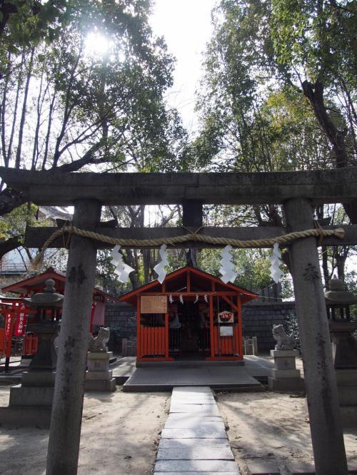 鴫野神社(しぎのじんじゃ)です。<br />淀君が篤く崇敬されていた神社です。