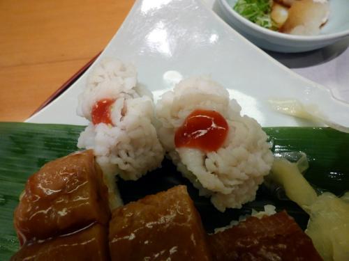 鱧押し寿司 梅肉