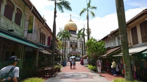 続いてはアラブストリート!<br /><br />チャイナタウンからここまではMRTで移動です。<br /><br />モスクが街のシンボルですね。