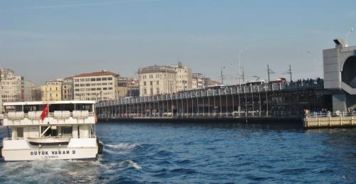 ボスポラス海峡クルーズ船から見た風景