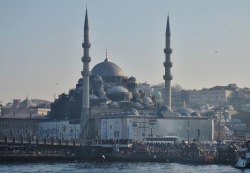 ボスポラス海峡クルーズ船から見たモスク