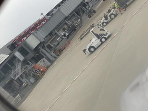 出発直前の空港の様子