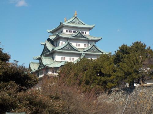 名古屋城が見えてきました。
