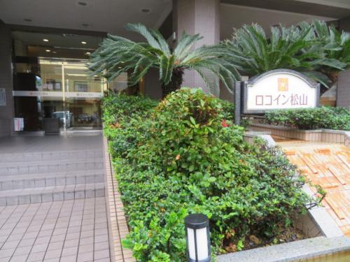ホテルロコイン松山入口、昼間は静かな場所です