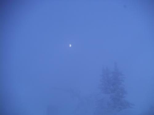 日中結構曇っていたのですが、月が出てきた。<br /><br /><br />さ、今夜はオーロラ三昧になるかな?<br /><br /><br /><br />