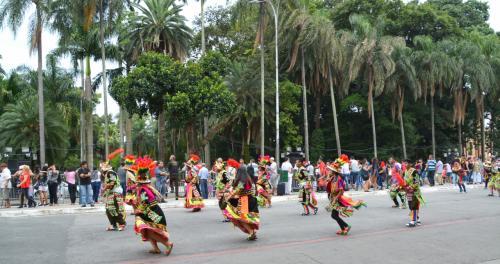 【ブラジルでボリビアカーニバル】<br /><br />2月4日(日)14:45から、と案内に書かれている。