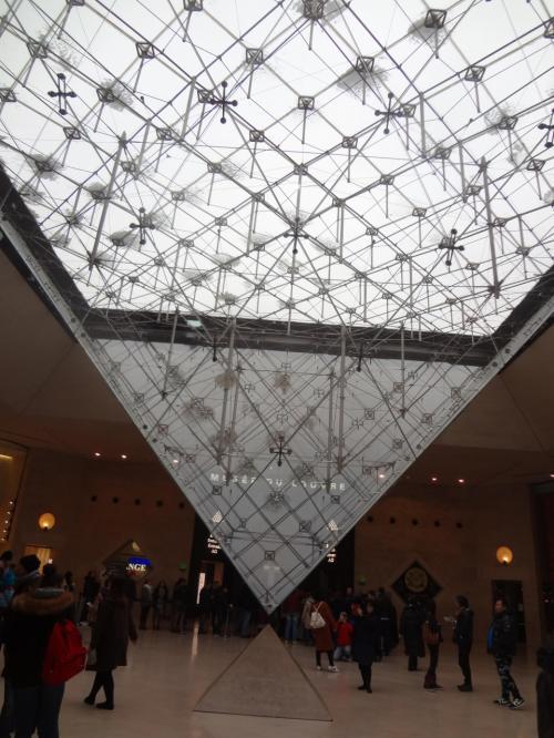 ルーブル建物内の逆さピラミッド。