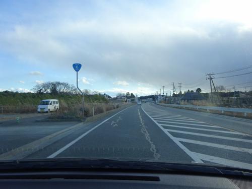 国道6号線を南下。<br />この先は、国道6号線と常磐自動車道でのみ、通過することができる。