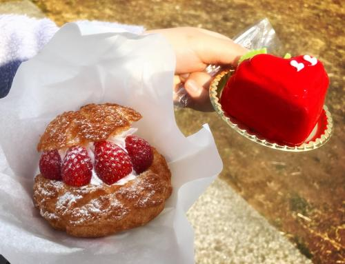 早速友人とイチゴスイーツを求めて歩いてみると美味しそうなスイーツを発見!<br /><br />横濱 ありあけ<br />私は フレッシュいちごシュー (左)を<br />友人は いちごちゃん (右)を購入。<br />程よい甘さで食べやすくおやつに丁度良いサイズでした。