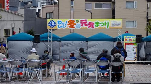 三軒寺前広場の演舞場<br /><br />まだ始まっていません。
