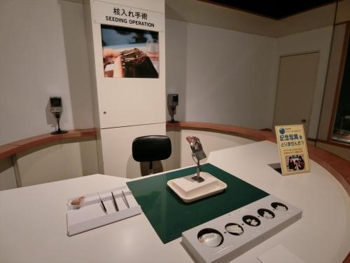 博物館では真珠の作り方が良く分かった。