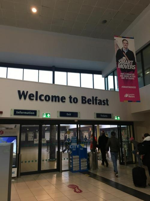 北アイルランド最大の都市ベルファストへ。<br />通貨がユーロからポンドに代わるので注意。
