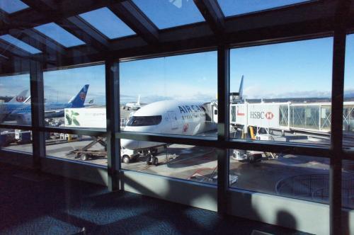 登場時刻になりました。エア・カナダ3便成田行きに乗ります。