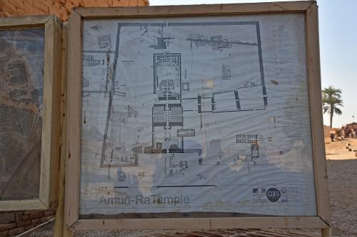 こちらはアメン大神殿の平図面。