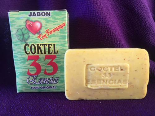 カクテル33という、33の効能があるというこれまた万能系の石鹸。<br /><br />しかも、この33の効能のメインは異性を引き寄せるためにブレンドされています。フェロモン配合!
