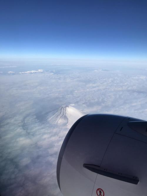 旅の出発は6:35羽田発のJTAで。<br />直行便で約4時間ほどのフライトです。<br /><br />富士山が奇麗に見えました。