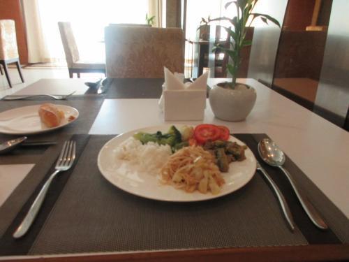 ホテルでの朝食です。