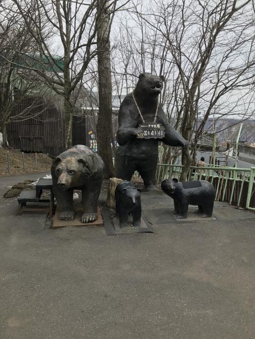 到着!<br />入り口には熊のオブジェが!