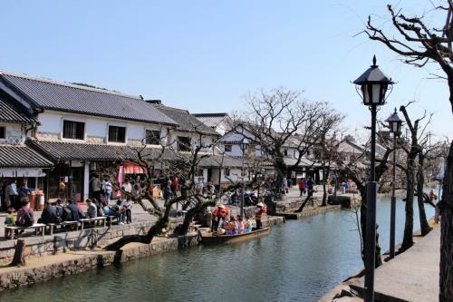 倉敷川沿いはお散歩コースにぴったりです。