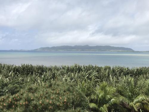 アンパル塔からの眺めです。<br /><br />遠くに竹富島?が見えました。<br />天気が良かったら西表島の島影や小浜島なども見えるそうです。