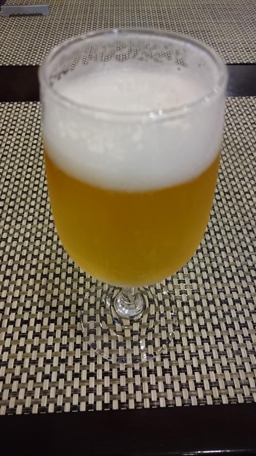 あと、ビールをグラスで1杯だけ。。
