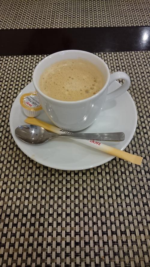 食後のコーヒーです。<br />このランチが1280円で食べられるのはお得な感じがしました。