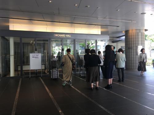 エレベーターを降りれば、そこがオーチャードホール。
