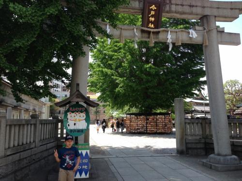 次は本龍院からすぐの今戸神社へ。長男が<br />「えーーーーーーーー!またまた寺とか超勘弁してほしいんだけど」<br />なんて抜かしていますがそもそも寺じゃないし。神社だし。