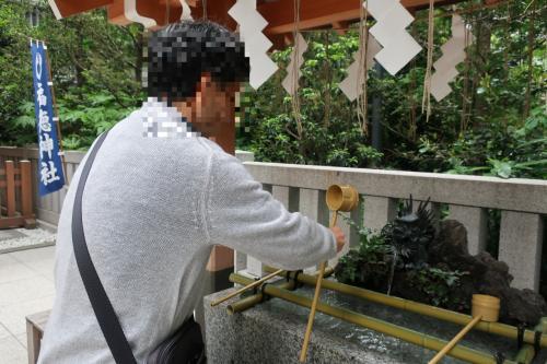 同上。<br /><br />近づくと龍の口から水が出てくるオートマチック。 <br /><br />日本橋の神社ね。