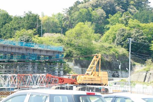 富岡駅は何やら橋のを作成していました。<br />今日はここから出発します。