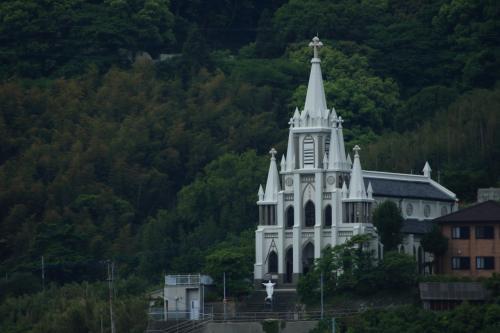 カトリック馬込教会/沖ノ島天主堂<br /><br />昭和6年(1931)建築、国の有形文化財。<br />正式名称は「聖ミカエル天主堂」
