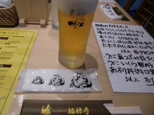 まずは、のビール。