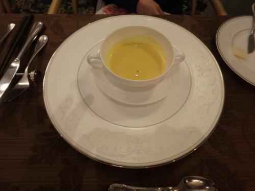 嫁は牡蠣がNGなんで・・・かぼちゃスープ